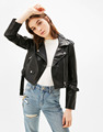 Ladies 2017 new short jacket jacket high waist self-cultivation motorcycle jacket