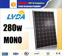 2016 hot seller Factory direct sales Mono solar panel 280w 285w Monocrystalline price per watt CE approved