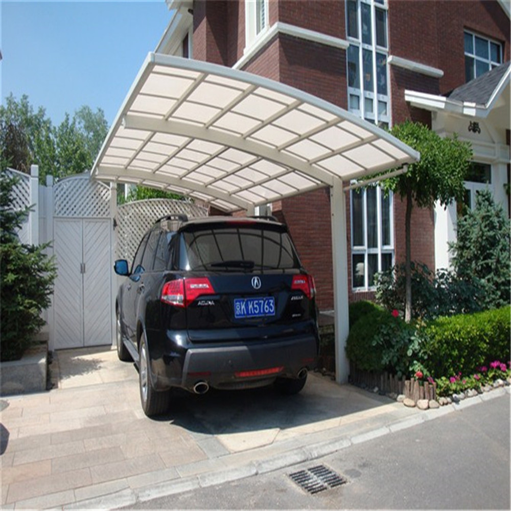 Modern aluminum frame car port, fashion single metal carport, carport shades