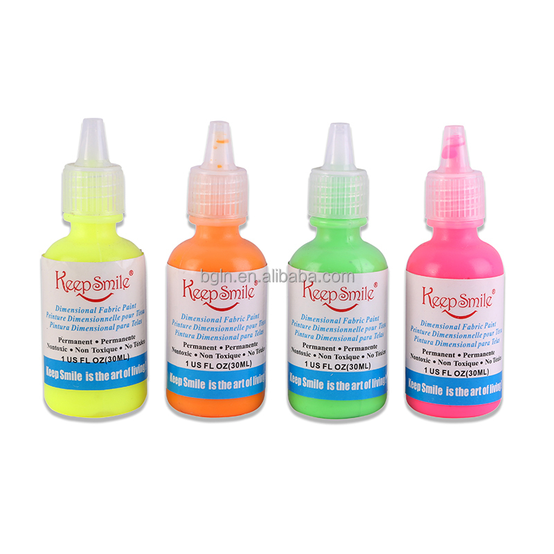 Non-toxic 30ml Neon Fabric Paint