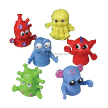 custom make plastic Monster Finger Puppets 1.5'',make custom design plastic finger puppets pretend toys