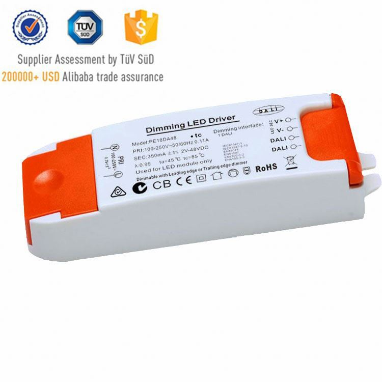 Plastic box 500ma led driver plastic case led switching power supply 0-10v dimming led driver
