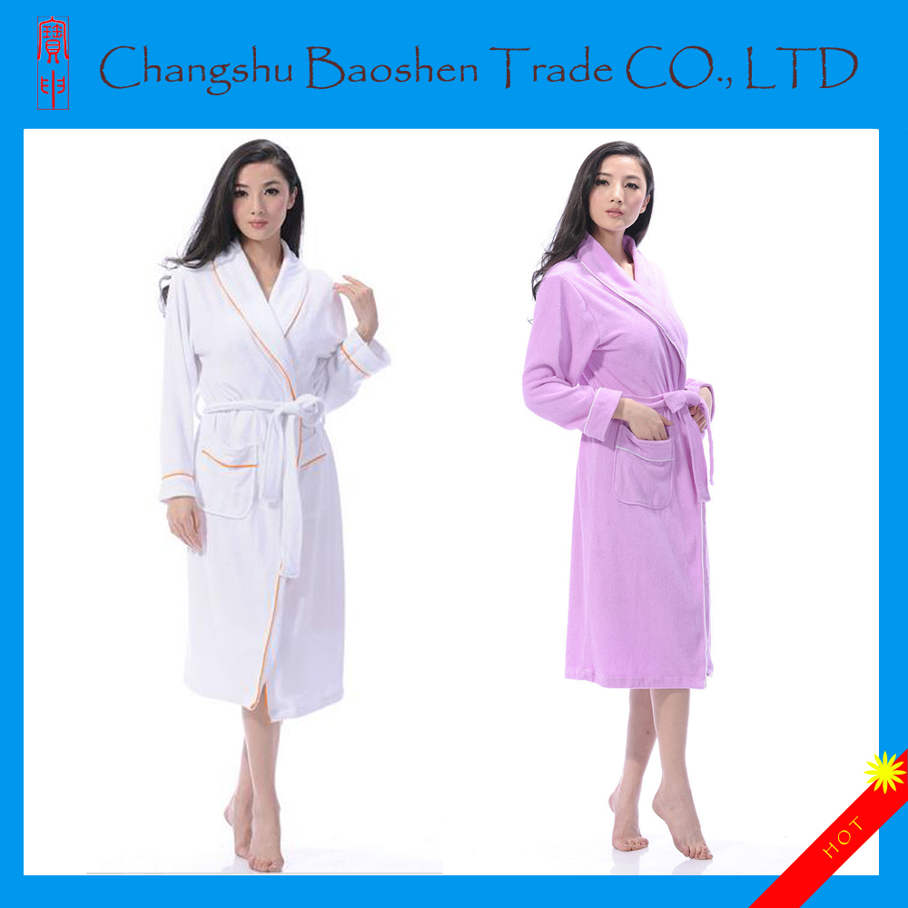 Colored 100 Cotton hotel Thick Terry Cloth Bathrobe