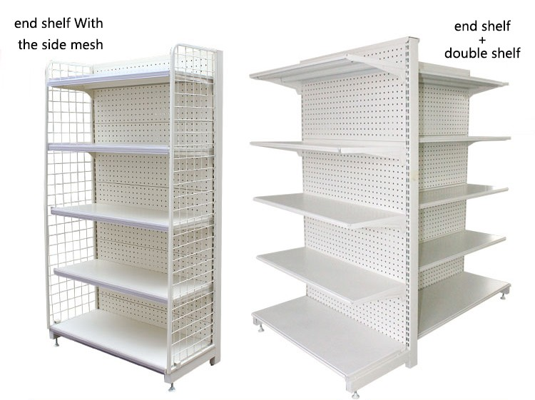 easy assembled wire shelf with plastic shelf edge label holder