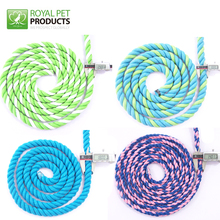 Wholesale colorful double braided 24mm cotton rope