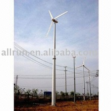 FREE STANDING POLE 30kw horizon axis wind turbine generator on-grid system Chinese manufacture, wind turbine with FRP blades