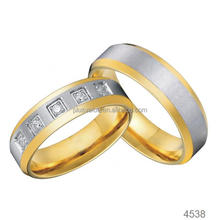 mens and womens couples wedding band stainless steel gold plated male engagement ring jewelry