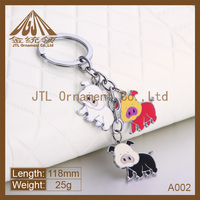zinc alloy new design keyring starfish custom metal keychain