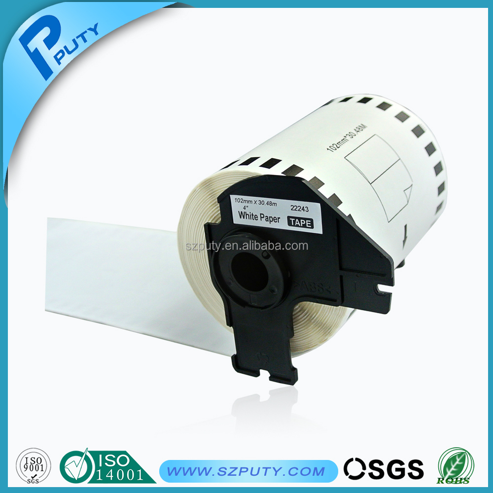 Compatible DK thermal label roll DK-22243/DK-2243(102mm*30.48m), Used for QL thermal printers(QL-1050 QL-1050N QL-1060N)