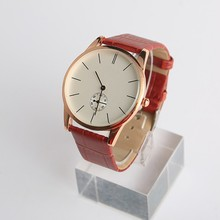 Vogue stainless steel vintage leather watches fancy watches women.