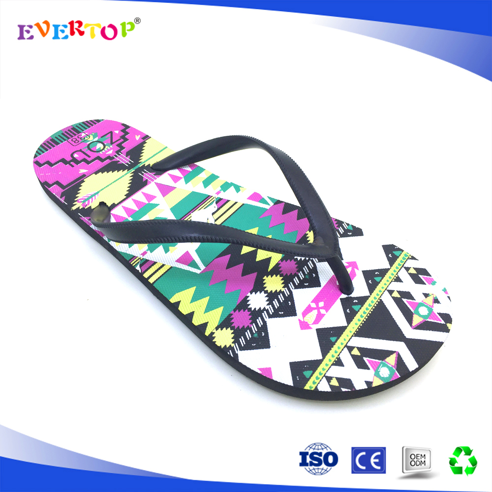 2017 custom and cheap wholesale new design machine making flip flops slippers cloth strap flip flops