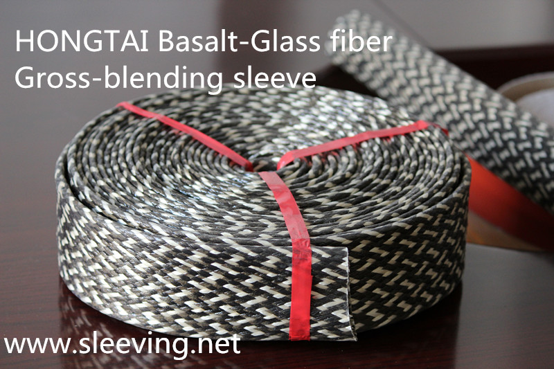 basalt fiber cross braid with fiberglass yarn high temperature sleeving