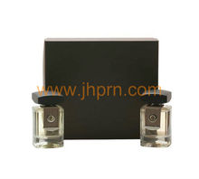 Matte brown paper box for men's perfume gift set pack