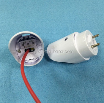 G13 ellipse Lamp Holder with switch for T8 Tube from Dongguan factory