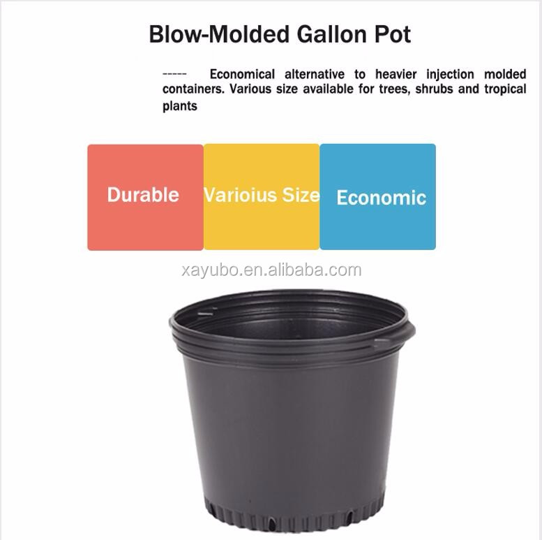 china supplier cheapest 1,2,3,5,10,15,20,25 plant gallon flower pots for trees