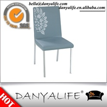 DYC99 Danyalife Hot Selling Chrome Legs PU Leather Side Chair