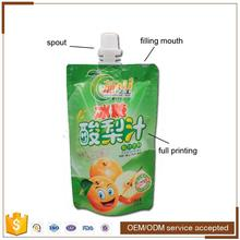 Food grade aluminum foil bag stand up drink pouch with spout, flexible packaging spout pouch bag for onion juice