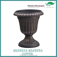 KD2922S Series Gold color plastic antique chinese urn