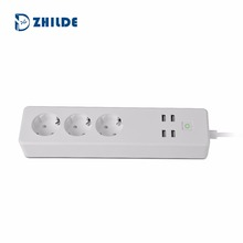 Smart home EU Electrical Wifi Socket Extension Power Strip Works with Alexa Echo Google Home