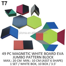 49 PCS EVA FORM MAGNETIC JUMBO GEOMETRIC PATTERN BLOCK