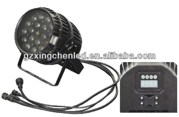 Guangzhou 18*10w 4in1 zoom lighting waterproof rgbw uv led par light
