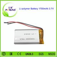 604060 cell 3.7v 1700mah smart li-polymer battery pack