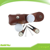High quality genuine cow leather Mini Golf Ball Bag