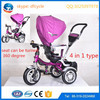 4in1 type kids baby tricycle children tricycle high quality softtextile baby stroller 2016 new model stroller baby