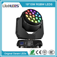 LiteLEES Perfect Wash 19X15W Led B Eye K10 Stage Lighting Bee Eye Led Moving Head Light with Kaleidoscope effect