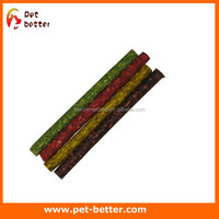 "pet food toy Rawhide dog chews munchy sticks with various color 5""x9-10mm -100pack wholesale dog treat"