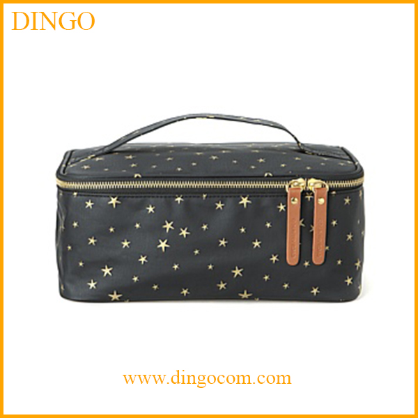 2016 Wholesale fashion promotion custom lady toiletry pouch PU travel cosmetic bag for gift