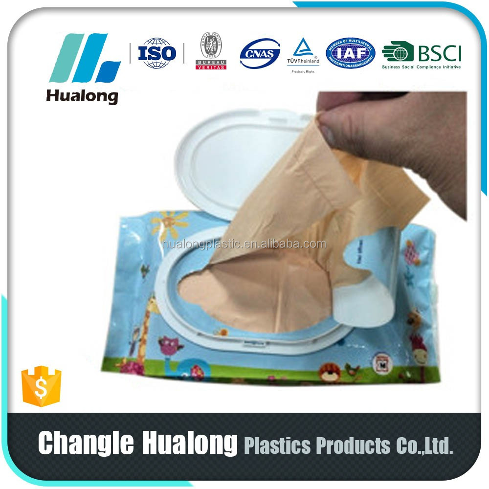custom printed LDPE/HDPE recycle plastic baby nappy bags