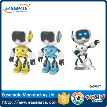 Alloy  robot toy  with light music smart toy robot for fun
