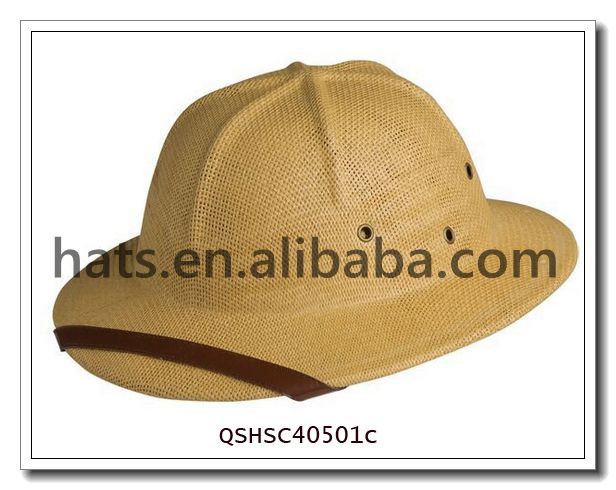 WholesaleStraw Pith Safari Helmet Hat QSHSC40501