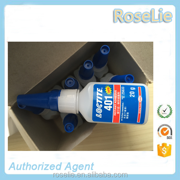 Rapid curing super strong glue loctite 401 adhesive for bonder shoes/ mobile/ rubber/ plastic/ paper 20g