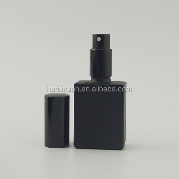 Trade assurance 15ml/30ml beauty empty matte black rectangle glass dropper bottle for beard oil
