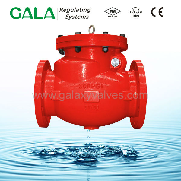 Ductile iron swing type rubber flap check valve with flange end
