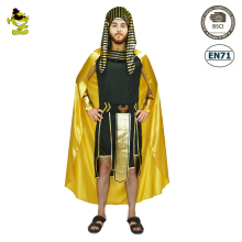 2017 Adult Men Egyptian King Pharaoh Costume Carnival Party With Yellow Cloak Fancy Dress Role Play Egypt Pharaoh Costumes