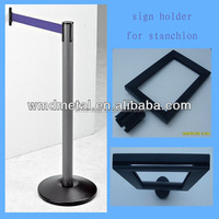 Steel with Powder Coated Parking Barrier Post Fence Stand