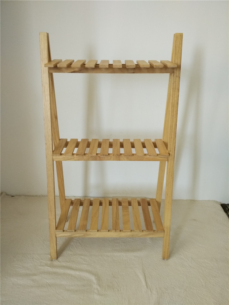 Wood Flower Pot Rack/Stand/Holder With 3-Tier