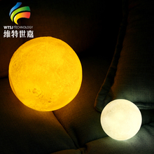 2018 Low Cost Rechargeable 3D Printed LED Moon Light Table Lamp For Decor Home