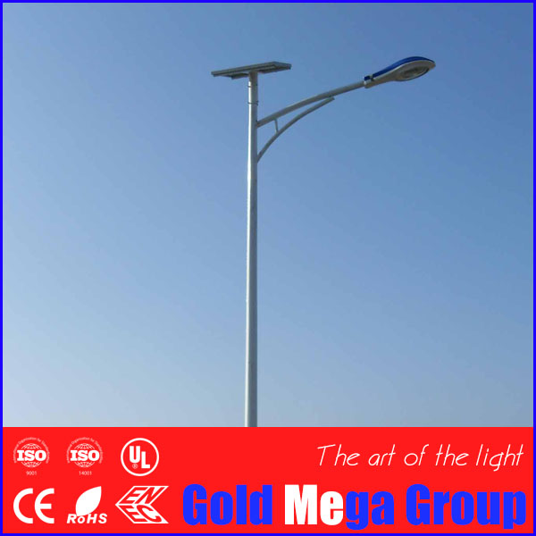 DC24V poly solar cell panel 72 watt LED street light day light with 8m pole