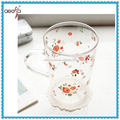 Hot sale home decoration cheap drinking glass cup set wholesale