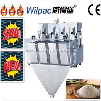 Foshan high quality refined rice modular weighing machine for 4.5L 2 head linear weigher with CE certification and high accuracy