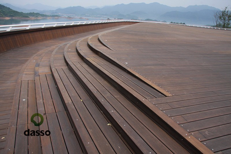 symmetrical profile patent protected Thermo treated outdoor Bamboo decking