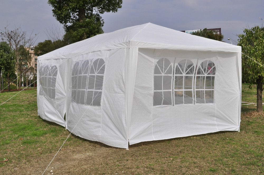 3*6M sun-proof PE cover BBQ garden camping party tent for sale