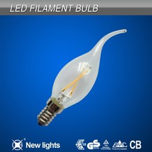 Filament bulb led lights lamp B15 Candle