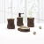 Einzigartige Design Baum Form Polyresin Bad Seife Dish Set mit Holz Dekoration