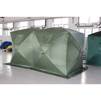 2 rooms cold weather ice fishing tent