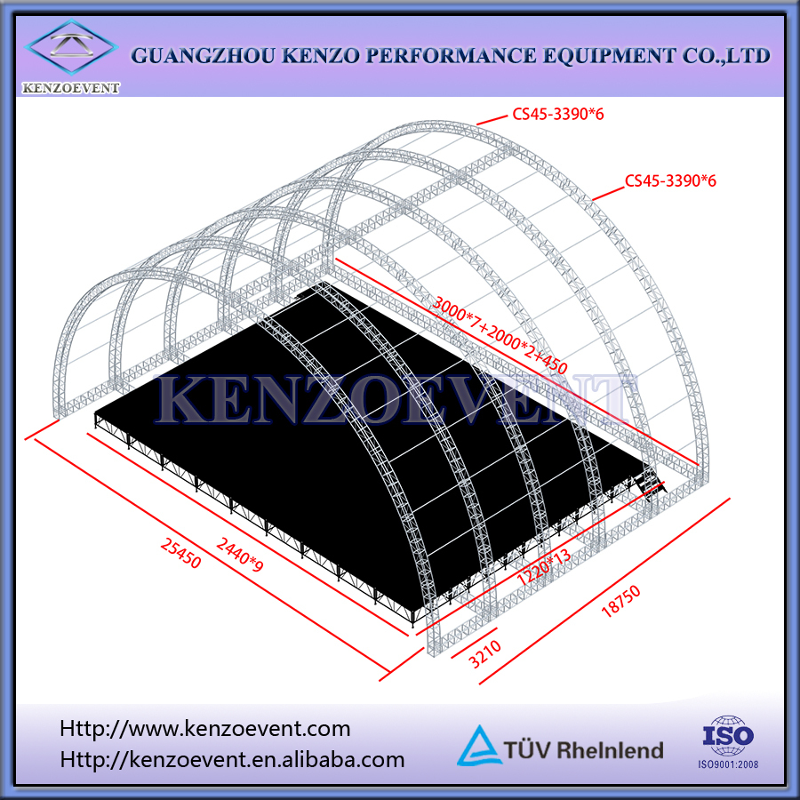 On Sale Arch Truss Roof Stage Roof System For Event Buy